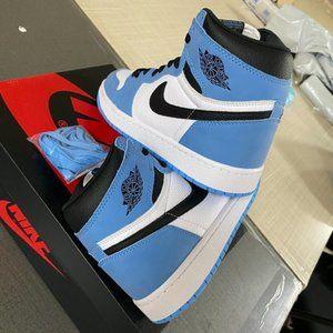 """NIKE Air Jordan 1 Retro High OG """"University Blue"""" New"""
